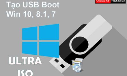 Hướng dẫn tạo usb boot bằng ultraiso đơn giản