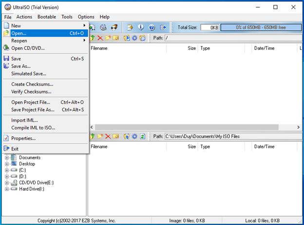 tạo usb boot từ file iso bằng ultraiso