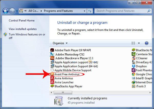 phần mềm gỡ bỏ avast free antivirus