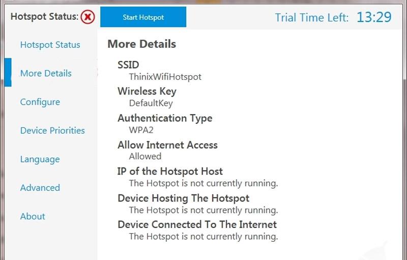 Thinix WiFi Hotspot